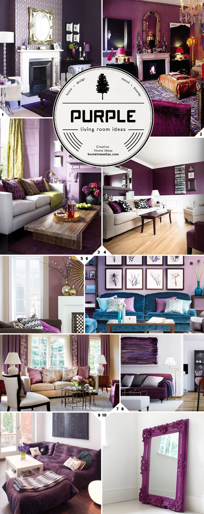 Purple Room Designs: The Color Palette: Purple Living Room Ideas And Design