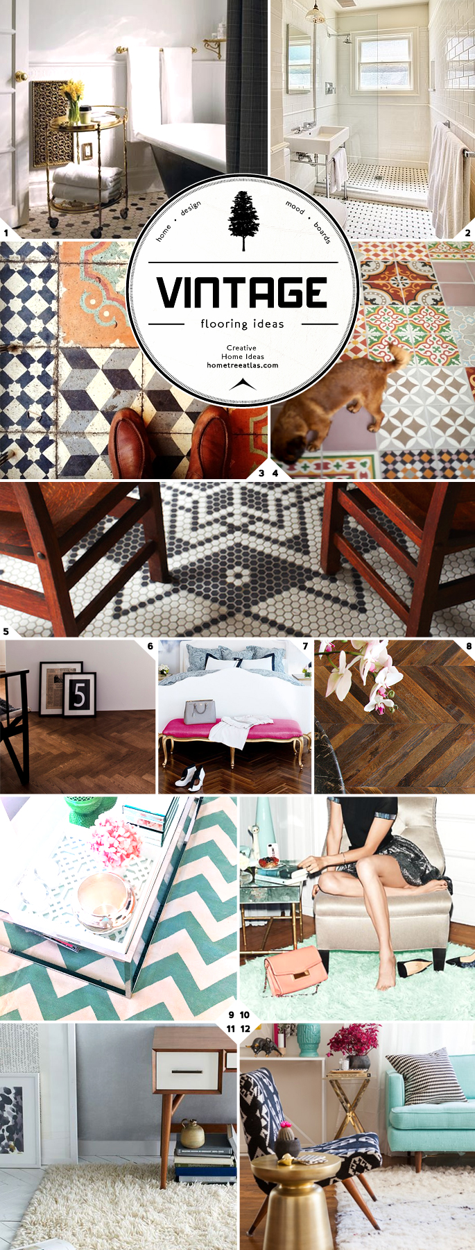 Style Guide: Vintage Flooring Ideas and Designs  Home Tree Atlas