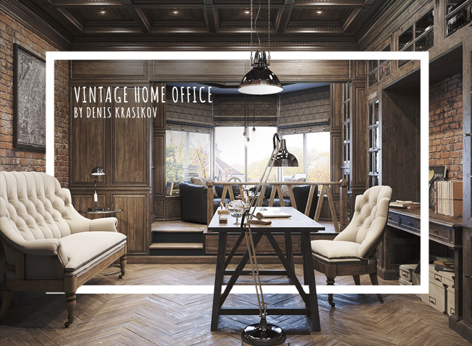 Top 70 Best Modern Home Office Design Ideas: Epic Vintage Home Office Design