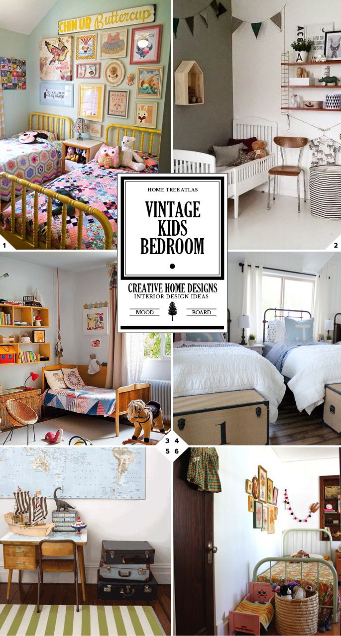 51 Ways To Diy The Bedroom Of Your Kids Dreams: A Bedroom With Style: Ideas For A Vintage Kids Room