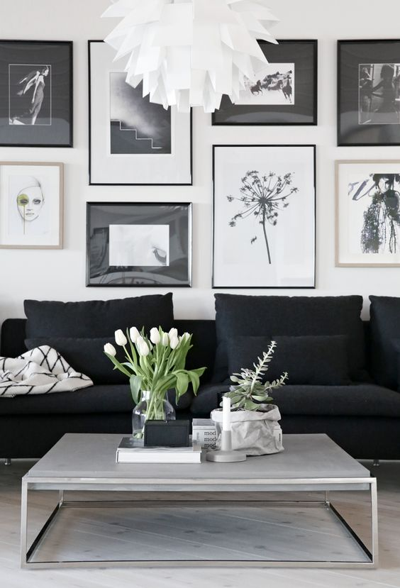 Black And White Living Room Ideas: Classic: Black And White Living Room Ideas And Designs