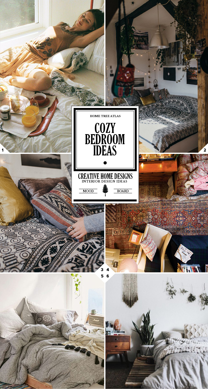 Warm And Cozy Dining Room Moodboard: How To Make Your Bedroom Cozy: Easy Ideas