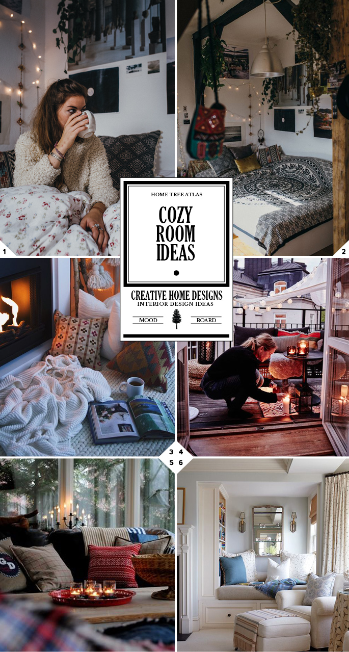 1. Bring in Cozy Textiles Blankets and pillows both have the ability to soften and warm up a cold, uninviting room pretty much instantly. Drape blankets over your couch and toss on a few pillows give your space a warm look and cozy feel.