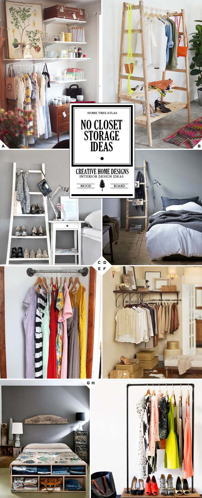 Getting Creative No Closet Solutions And Storage Ideas Home Tree Atlas