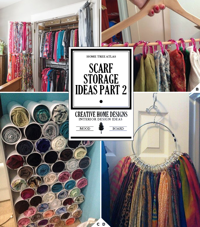 Creative Ways Of How To Store Scarves Home Tree Atlas