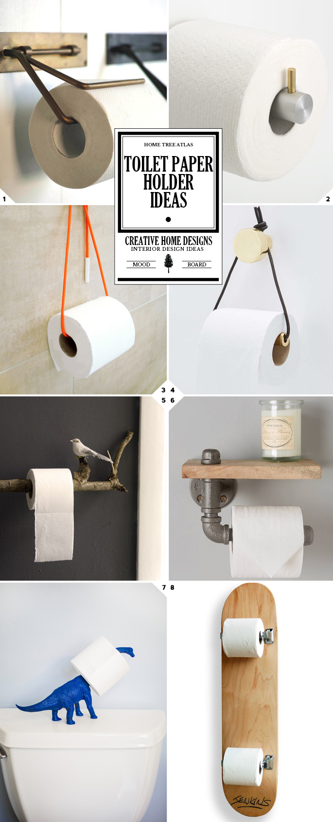 Toilet paper holder ideas from diy ideas to modern designs
